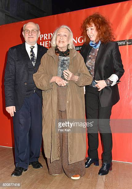 Frederic Vidal Michele Presle and Sabine Azema attend Henri Langlois 11th Award Ceremony At Maison de La Radio on April 11 2015 in Paris France