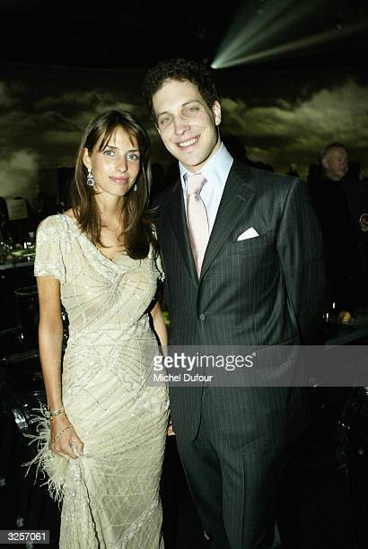Frederic Windsor and Marina Hanbury attend the 100th anniversary of the Cartier Santos watch created for Brazilian pilot SantosDumont on April 7 2004...