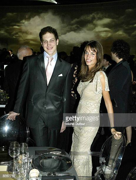 Frederic Windsor with Marina Hanbury attends the 100th anniversary of the Santos watch Cartier created for Brazilian pilot SantosDumont April 7 2004...