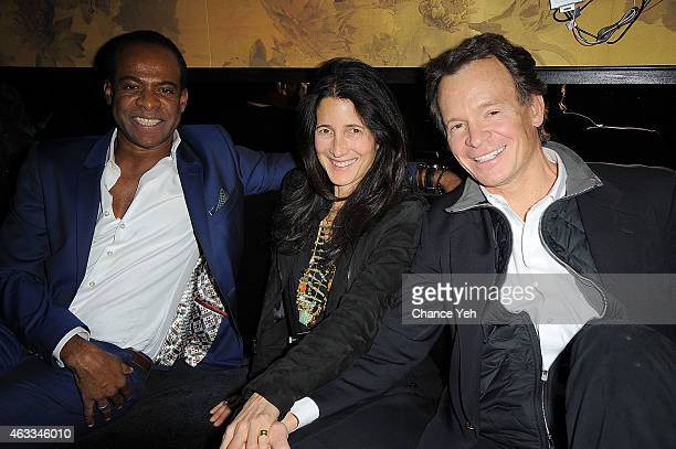Frederick Anderson Amanda Ross and Zack Bacon attend HANLEY MELLON Fall/Winter 2015 Collection Presentation After Party at Beautique on February 12...