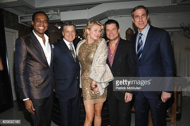Frederick Anderson Jay Johnson Lady Liliana Cavendish Douglas Hannant and Tom Cashin attend The 13th Annual ACRIA Holiday Dinner at The Urban Zen...