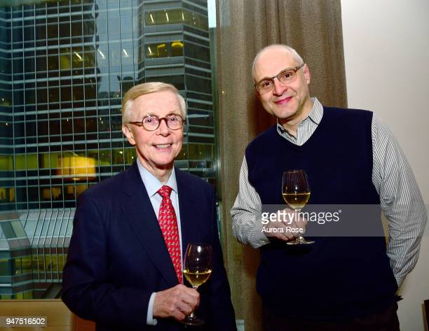 J Frederick Berg Jr and Marcus Epprecht attend Launch Of New Entity Withers Global Advisors at 432 Park Avenue on April 3 2018 in New York City J...