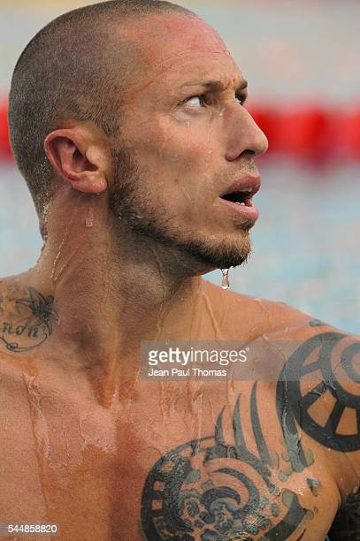Frederick BOUSQUET of France 50M Freestyle men Final during Open de France on July 3 2016 in Vichy France