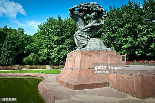 Frederick Chopin monument in summer
