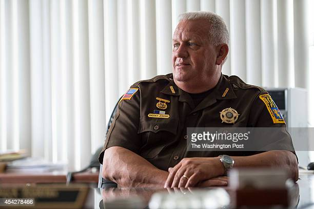 Frederick County Sheriff Chuck Jenkins poses for a photo while working in his office at the Frederick County Law Enforcement Center on July 23 2013...