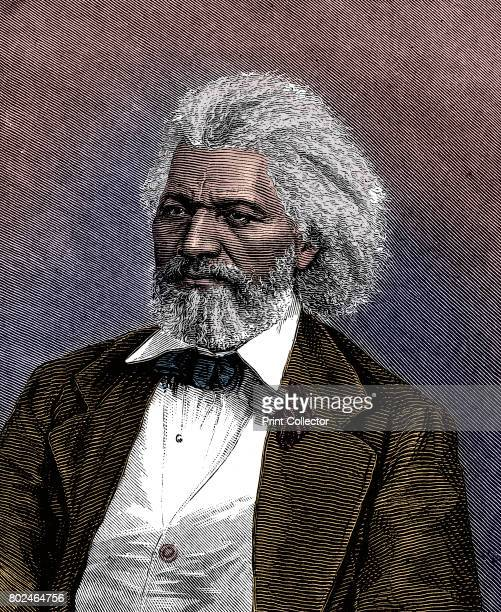 Frederick Douglass American diplomat abolitionist and writer 1875 Son of a slave a mulatto he fled from slavery at 21 Artist Unknown