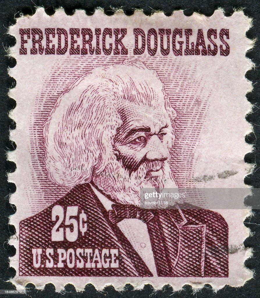 Frederick Douglass Stamp : Stock Photo