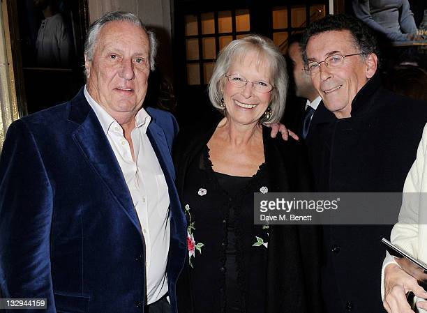 Frederick Forsyth Babs Powell and Robert Powell attend an after party following the Press Night performance of 'The Lion In Winter' at The Institute...