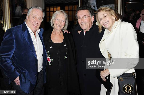 Frederick Forsyth Babs Powell Robert Powell and Sandy Forsyth attend an after party following the Press Night performance of 'The Lion In Winter' at...