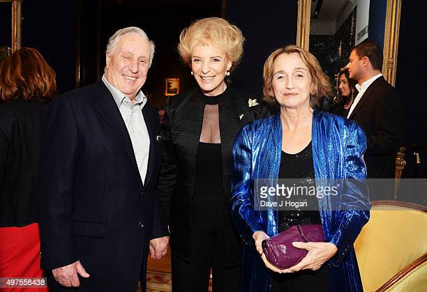 Frederick Forsyth Princess Michael of Kent and Sandy Molloy attend the launch of 'Quicksilver' by HRH Princess Michael of Kent the final volume of...