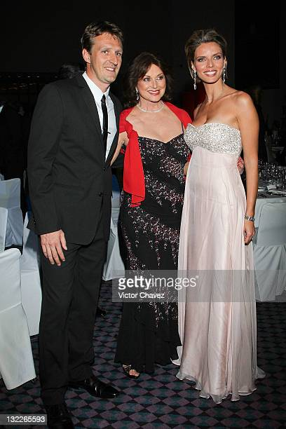 Frederick Gilbert Christiane Magnani and Miss France director Sylvie Tellier attend the Miss France 2012 gala night at the Hotel Camino Real on...
