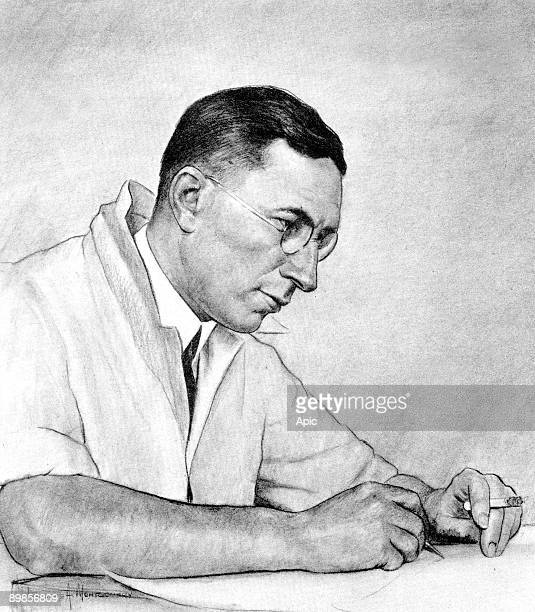 Frederick Grant Banting canadian physiologist medecine Nobel Prize for discovering insulin in 1923 drawing