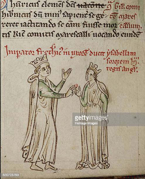 Frederick II and Isabella of England Found in the collection of British Library