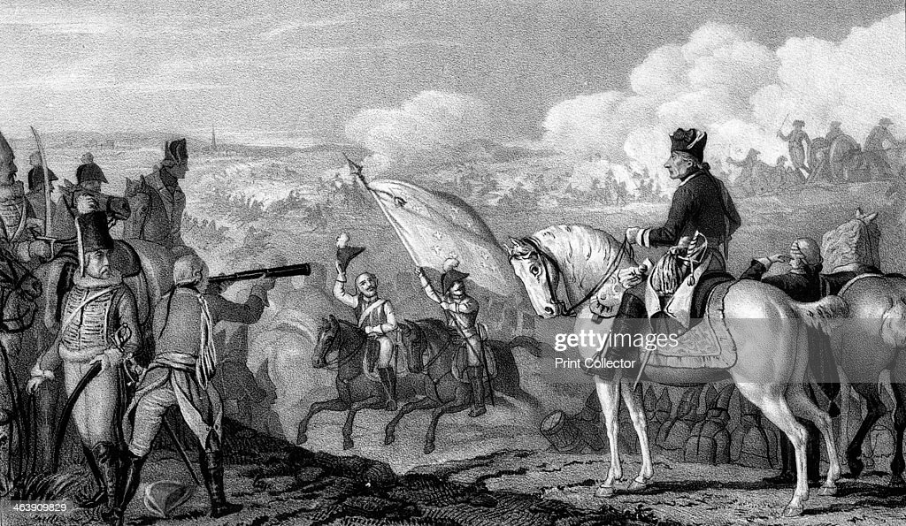 Frederick II, The Great (1712-1786), King of Prussia from 1740, at the Battle of Rossbach, 1757. : News Photo