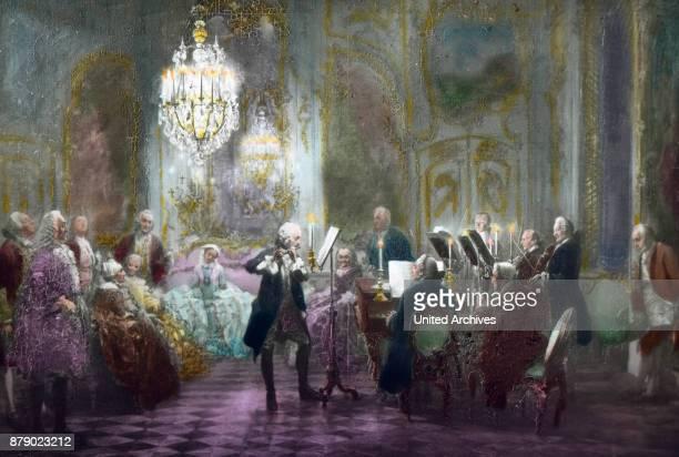 Frederick II's Flute concert at Sanssouci