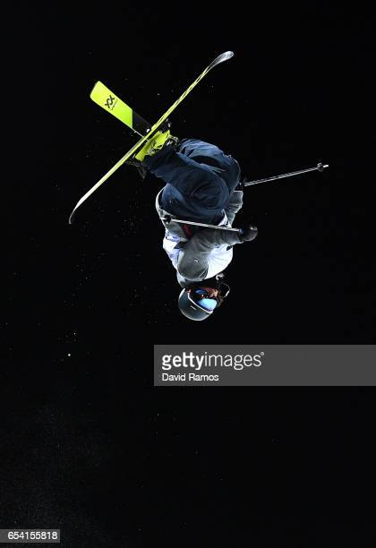 Frederick Iliano of Switzerlandcompetes in the Men's halfpipe qualification round on day 9 of the FIS Freestyle Ski Snowboard World Championships...