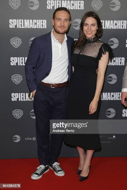 Frederick Lau and Antje Traue attend 'Spielmacher' Premiere at Lichtburg on April 10, 2018 in Essen, Germany.