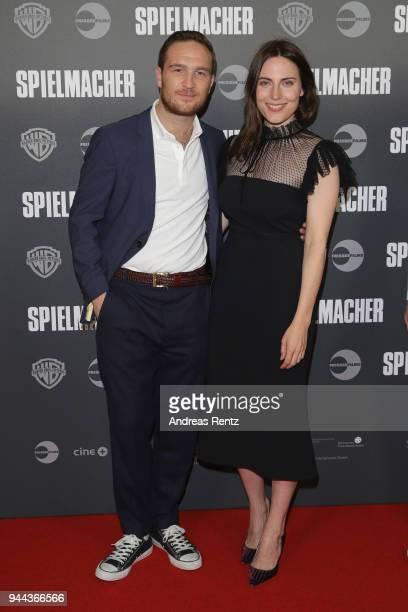 Frederick Lau and Antje Traue attend 'Spielmacher' Premiere at Lichtburg on April 10 2018 in Essen Germany
