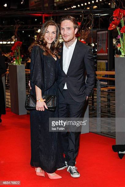 Frederick Lau and his girlfriend Annika Kipp attend the Closing Ceremony of the 65th Berlinale International Film Festival on February 14 2015 in...