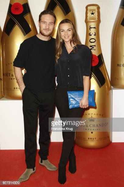 Frederick Lau and his wife Annika Lau attend the Moet Academy Night on March 4 2018 in Berlin Germany