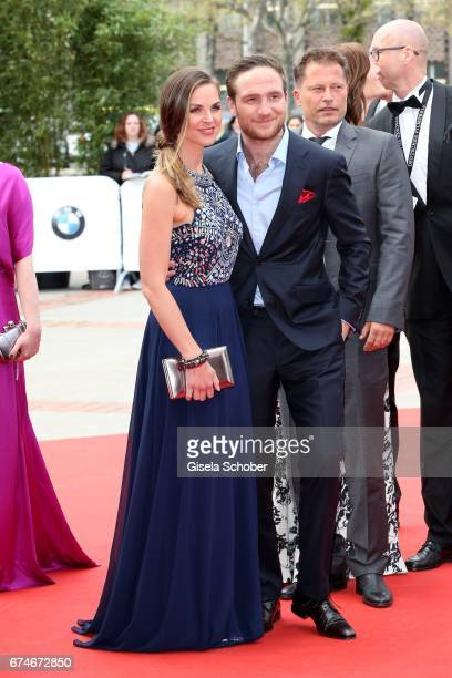 Frederick Lau and his wife Annika Lau during the Lola German Film Award red carpet arrivals at Messe Berlin on April 28 2017 in Berlin Germany