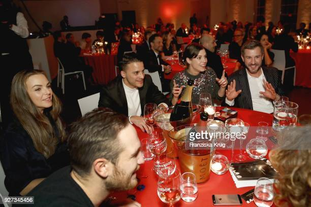 Frederick Lau Annika Lau Kostja Ullmann Birthe Wolter and Jochen Schropp during the Moet Academy Night on March 4 2018 in Berlin Germany