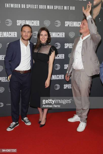 Frederick Lau Antje Traue and Oliver Masucci attend 'Spielmacher' Premiere at Lichtburg on April 10 2018 in Essen Germany