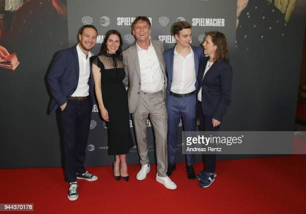 Frederick Lau Antje Traue Oliver Masucci Mateo Wansing Lorrio and Petra Mueller attend 'Spielmacher' Premiere at Lichtburg on April 10 2018 in Essen...