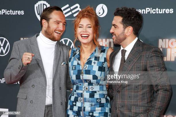 Frederick Lau Palina Rojinski and Elyas M'Barek attend the premiere of Nightlife at Zoo Palast on February 4 2020 in Berlin Germany