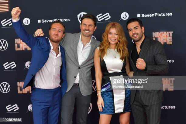 Frederick Lau Simon Verhoeven Palina Rojinski and Elyas M'Barek attend the premiere of Nightlife at Mathaeser Filmpalast on February 12 2020 in...