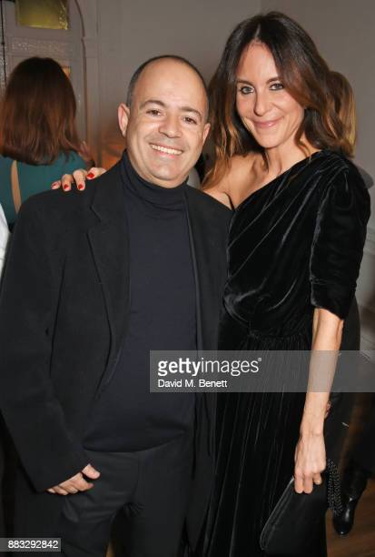 Frederick Lukoff and NETAPORTER and MR PORTER President Alison Loehnis attend a party hosted by NETAPORTER and MR PORTER to celebrate the festive...