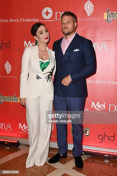 Frederick Lundqvist and Chiara Francini attend the Diva  Donna Party during the 73rd Venice Film Festival at Centurion Hotel on September 7 2016 in...