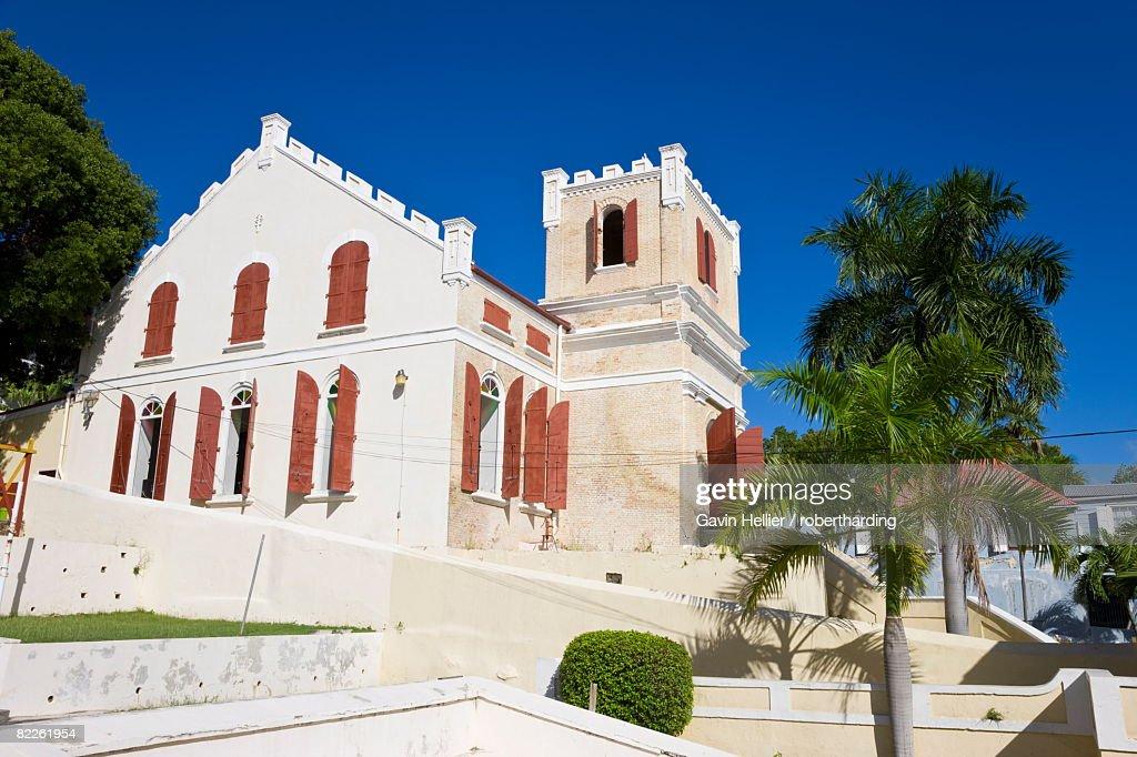 Frederick Lutheran Church, Charlotte Amalie, St. Thomas, U.S. Virgin Islands, West Indies, Caribbean, Central America : Stock Photo