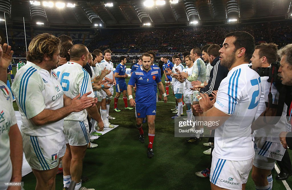 Frederick Michalak of France walks off the field after their defeat during the RBS Six Nations match between Italy and France at Stadio Olimpico on February 3, 2013 in Rome, Italy.
