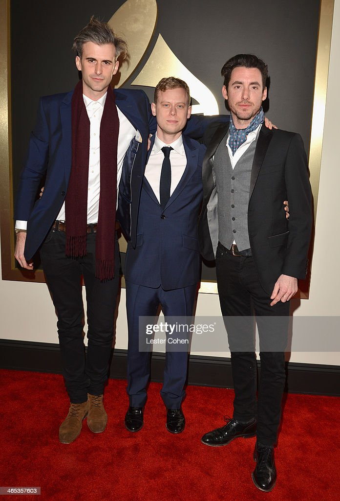 Frederick Scott, Dan Bowen and Nicolas Jack Davis attend the 56th GRAMMY Awards at Staples Center on January 26, 2014 in Los Angeles, California.