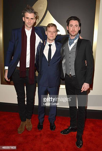 Frederick Scott Dan Bowen and Nicolas Jack Davis attend the 56th GRAMMY Awards at Staples Center on January 26 2014 in Los Angeles California
