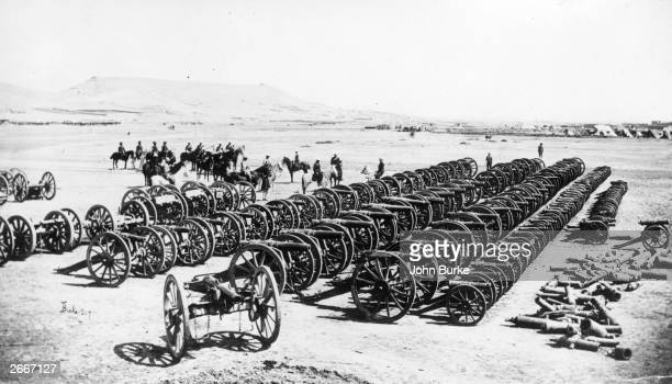 Frederick Sleigh Roberts 1st Earl Roberts of Kandahar Pretoria and Waterford British military commander and his men inspecting captured guns after...