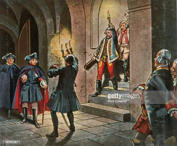 Frederick the Great at Lissa Castle 5 December 1757 'Friedrich Der Grosse Im Schloss Lissa 5 Dezember 1757' King Frederick the Great of Prussia...