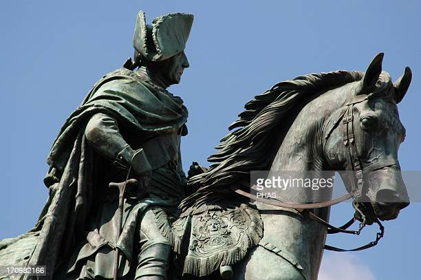 Frederick the Great King of Prussia Equestrian monument by Christian Daniel Rauch Berlin Germany