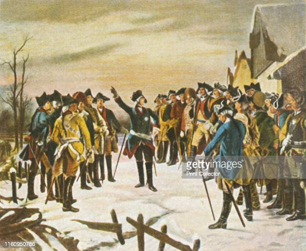 Frederick the Great makes a speech to his generals on the eve of the Battle of Leuthen 5 December 1757 'Ansprache Friedrichs Des Grossen An Seine...