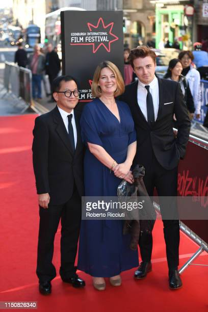 Frederick Tsui Natalie Brenner and Jack Lowden attend the European premiere of Boyz In The Wood and opening night gala of the 73rd Edinburgh...