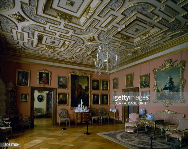Frederick V's Hall, Frederiksborg Castle, Hillerod, built during Christian IV's reign, by the Steenwinkel father and son architects. Denmark, 17th...