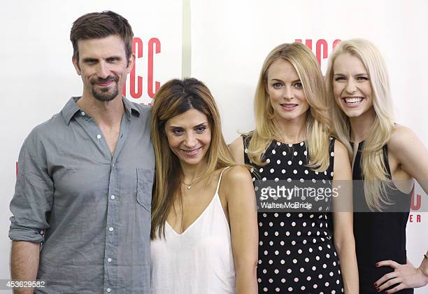 Frederick Weller Callie Thorne Heather Graham and Gia Crovatin attend 'The Money Shot' photo call at the Second Stage Theatre on August 14 2014 in...
