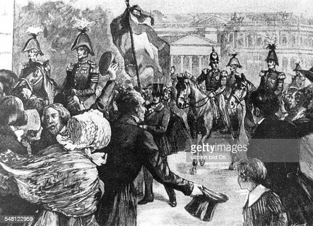 Frederick William IV of Prussia King of Prussia *1510179502011861 The King Frederick Wiliam of Prussia during the parade rinding behind the...