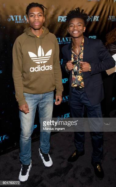 Frederick Williams and Jasun Jobber attend the 'Atlanta Robbin' Season' Atlanta premiere at Starlight Six Drive on February 26 2018 in Atlanta Georgia