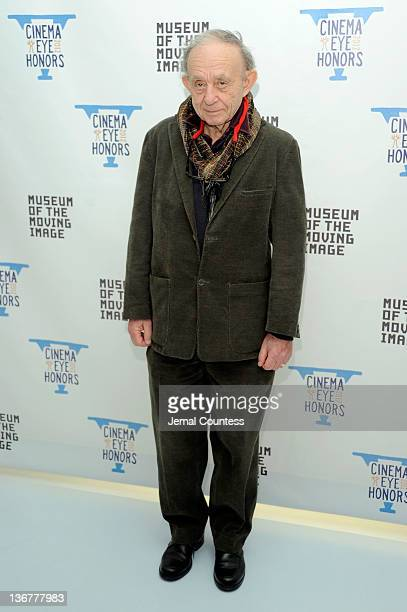 Frederick Wiseman attends the 5th Annual Cinema Eye Honors for Nonfiction Filmmaking at the Museum of the Moving Image on January 11 2012 in the...