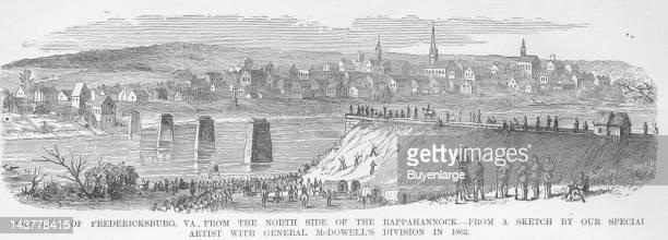 Fredericksburg from the Rappahannock Fredericksburg Virginia 1861 From an issue of Frank Leslie's Illustrated Almanac