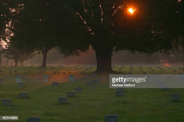 The Union Cemetery at Marye's Heights at the Fredericksburg battlefield.