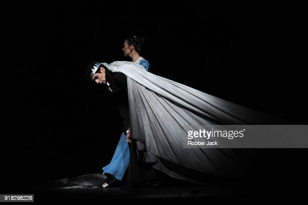 Frederico Bonelli as Leontes and Tierney Heap as Paulina in the Royal Ballet's production of Christopher Wheeldon's The Winter's Tale at the Royal...