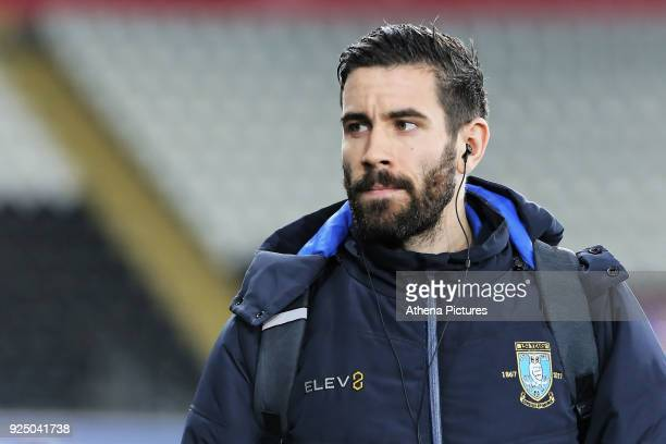 Frederico Venancio of Sheffield Wednesday arrives prior to the game during The Emirates FA Cup Fifth Round Replay match between Swansea City and...